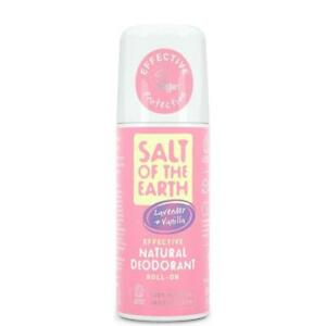 Salt of the Earth Natural Deodorant Roll-on Pure Aura Lavender & Vanilla 75ml