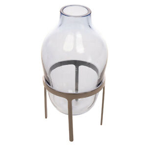 RRP €220 PAOLA C. TITUS III Glass Vase MOUTH-BLOWN Made in Italy