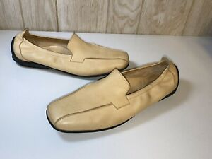 ARCHE TAN NUBUK LEATHER LEATHER FLAT SHOES SZ 10