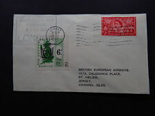 Cover UK Waterloo Air Terminal London Jersey Channel Isles Air Letter 1953