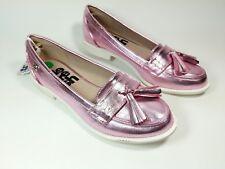 Refresh Pink Faux Leather Mocassin Tassel Shoes Uk 4 Eu 37 New