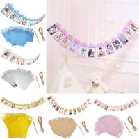 Baby 1st Birthday Recording Bunting Banners 1-12 Month Photo Props Decor Gift
