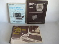 LOT of TRS-80 Programming Reference User Manuals Books by Radio Shack