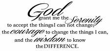 God Grant Serenity Prayer Vinyl Wall Decal Quotes Wall Stickers Religious Decals