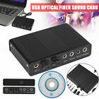 Optical External 6Channel 5.1 Audio Output Adapter Sound Card USB SPDIF for PC J