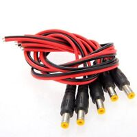 5x DC Maennlich Male Stecker 2,1mm Adapter Anschlusskabel fuer CCTV GY