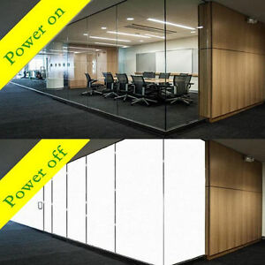 White to Opaque PDLC Smart Film switchable Window glass Film Privacy Sticker