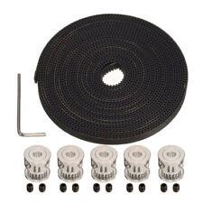 """5pcs GT2 20T 5mm Bore 6mm Width Pulley+16'5"""" GT2 Timing Belt 3D Printer"""
