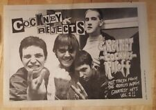 Cockney rejects greatest reject  1980 press advert Full page 37 x 27 cm poster
