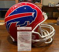 Jim Kelly Autographed Buffalo Bills Authentic Proline Helmet HOF 02 Witness JSA