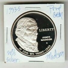 1993 S James Madison Dollar PROOF 90% SILVER FROST President Montepelier TRUST
