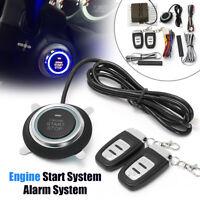 8x Car Alarm Start Security System Key Passive Keyless Entry Push Button