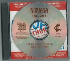 "NIRVANA      ""Live Vol 1 ""     93 Amcos  CD"