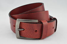 REAL FULL GRAIN COW LEATHER BELT 38mm WIDE ALL SIZES BLACK DARK BROWN RED buck.2