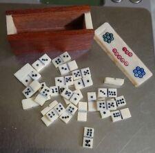 ANCIEN JEUX DOMINOS MINIATURE ANTIQUE MINI DOMINOES 19th BONES OS XIXé TOY GAME