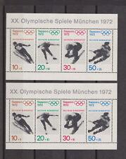 Bund BRD Block 6 Sapporo Olympiade 1972 , zweimal postfrisch