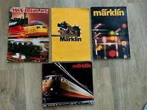 4 X MARKLIN HO GAUGE RAILWAYS CATALOGUES – 1976 + 1983/84 + 1973 + 1971