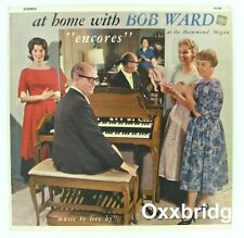 BOB WARD HAMMOND ORGAN At Home With 1950's Jazz Piano Easy Listening Vinyl LP