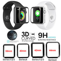 For Apple Watch Series Tempered Glass Film Full Coverage 3D Screen Protector ES