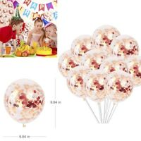 "10 Pcs 12"" Confetti Latex Filled Helium Balloon Birthday Party Wedding Decor New"