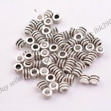 20/50/100Pcs Tibetan Silver Tube Charm Spacer Beads Jewelry Findings DB3041
