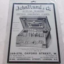 JOINERY J.POUND OXFORD STREET  VINTAGE RETRO LARGE STEEL WALL PLAQUE TIN SIGN