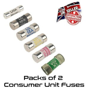 Consumer Unit Fuses Wylex Boards 5A 10A 15A 20A 32A & 45A Amp Pack Of 2 BS1361
