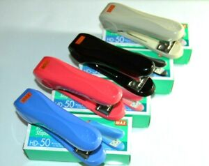 MAX STAPLER HD-50 24/6 26/6 OFFICE,DESK,HEAVY DUTY AND DURABLE & 1000 STAPLE PIN