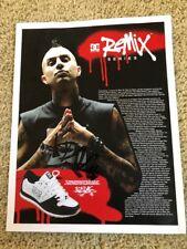 Travis Barker Signed DC Remix Shoe Promo Flyer blink 182