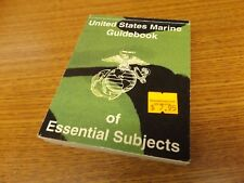 UNITED STATES MARINE GUIDEBOOK OF ESSENTIAL SUBJECTS 1983