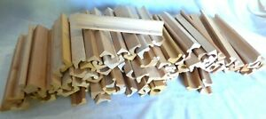 Lot of 102 Scrabble Tile Letter Holders Racks Trays Wooden Craft, Wedding, Party