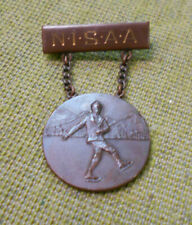 #D279. Rare 1935 Ice Skating Prize Medal / Lapel Badge