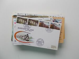 Railways - Collection of railway stamp covers & postcards. See pics below.