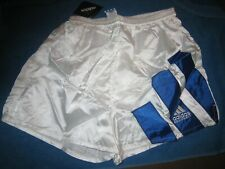 Adidas Three Stripe Soccer Short White/Blue, New!