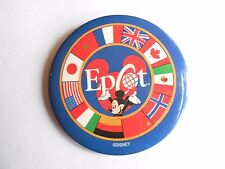 Vintage Walt Disney World Epcot Mickey Mouse Pinback Button
