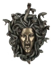 """14.5"""" Head of Medusa Wall Plaque Statue Collectible Gothic Myth Legend Snakes"""