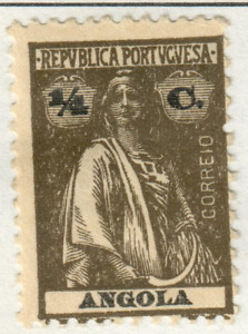 Angola - 1921 Postage Due Stamp and 1914 -1924 Ceres Stamp