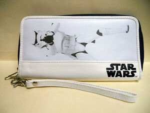 NEW Star Wars STORM TROOPER white & black ZIP around LONG Carry WALLET