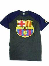 Official  FC Barcelona Football Soccer  Men'as T-Shirt gray blue 177294