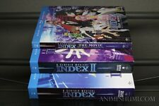 A Certain Magical Index Seasons 1 & 2 + Movie Anime DVD+Blu-ray Bundle R1