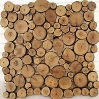 Pine Wood Slice Round Disc Tree Bark Wooden Circles w/ Rope