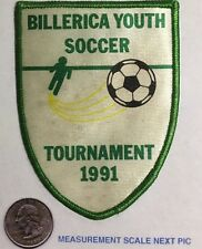 Billerica Youth Soccer Tournament Patch 1991