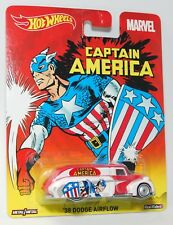 Hot Wheels MARVEL CAPTAIN AMERICA '38 DODGE AIRFLOW COLLECTABLE REAL RIDERS 1:64