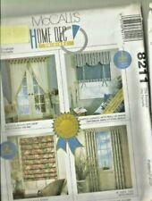 McCalls Home Decor 3088 8211 Sheer Curtain Roll Up Shades Tab Top Drapes Pattern