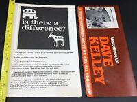 1980 California Republican Party Campaign Pamphlet Reagan Dave Kelley 80s