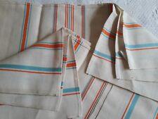 LOT02/ 6 TORCHONS LIN LITEAUX NEUFS Fleur bleue 60x77cm VINTAGE 6 linen cloths