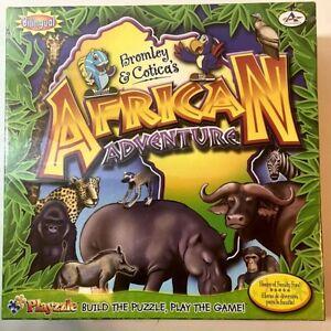 African Adventure Bilingual Animals Board Game Critical Thinking Children NIB