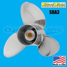 10 X 12 Yamaha 20-25-30hp Stainless Steel Propeller Power Tech Sra3 Prop 3 Blade
