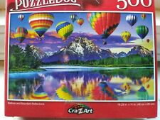 New 500 Piece Jigsaw Puzzle (Balloon and Mountain Reflections)