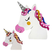 Licorne Unicorn Lampe LED Chambre de bonne Applique murale bois einhornlampe